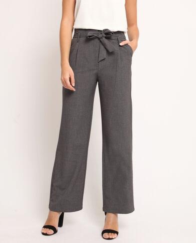 Pantalone largo grigio chiné
