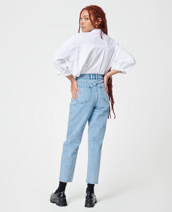 Jeans a vita alta blu delavato - Pimkie