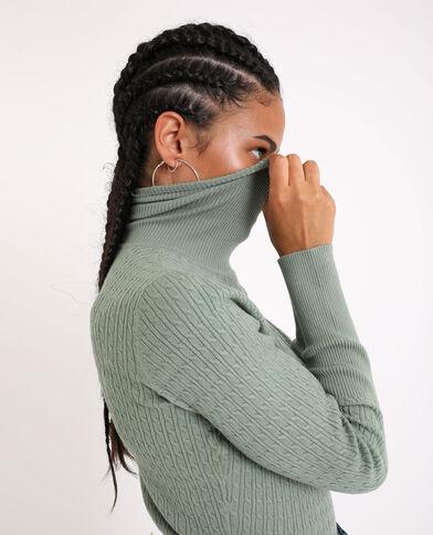 Pull collo dolcevita verde