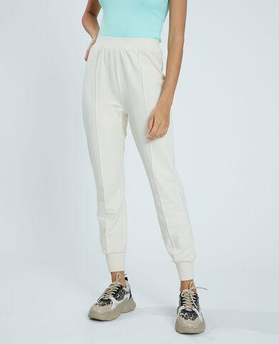 Pantalone in tessuto felpato bianco - Pimkie