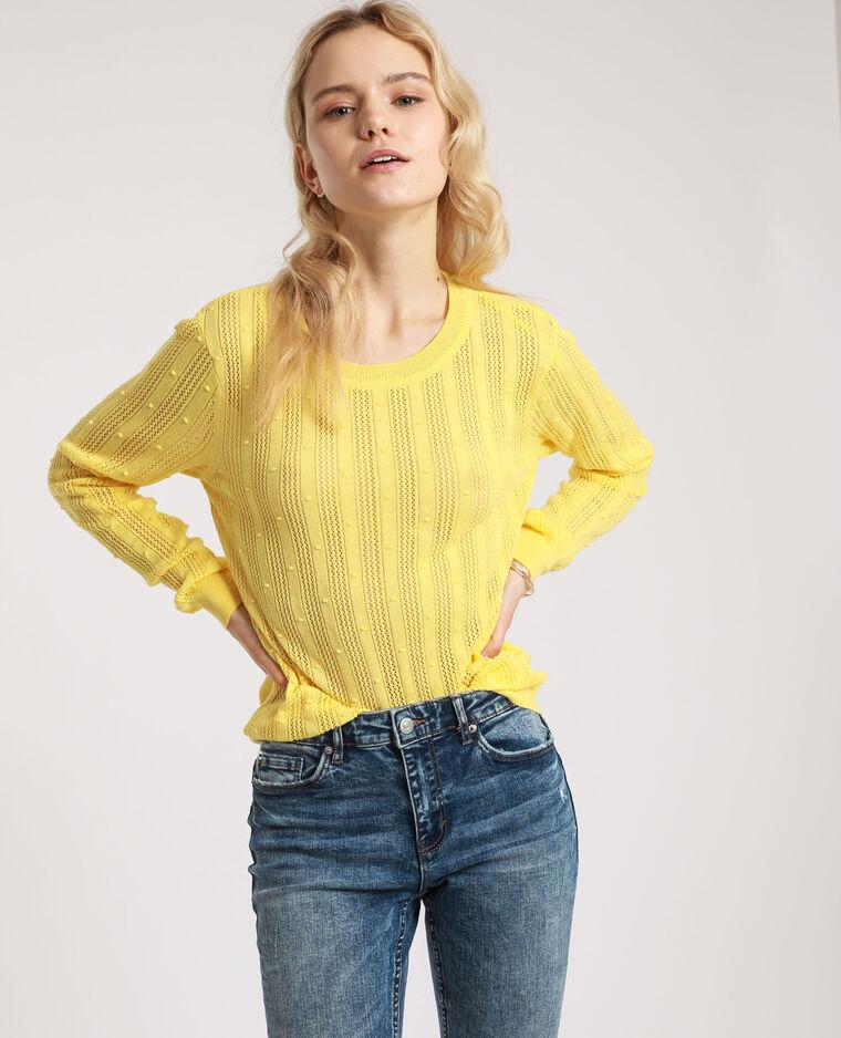 Pull maglia fantasia giallo - Pimkie
