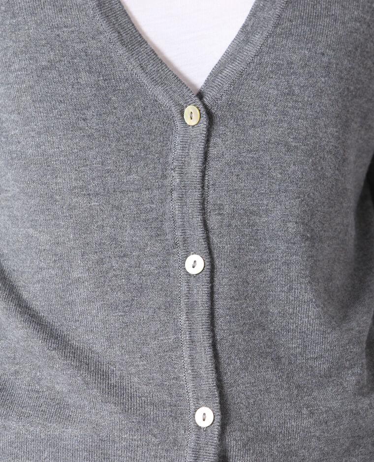 Cardigan sottile grigio chiné
