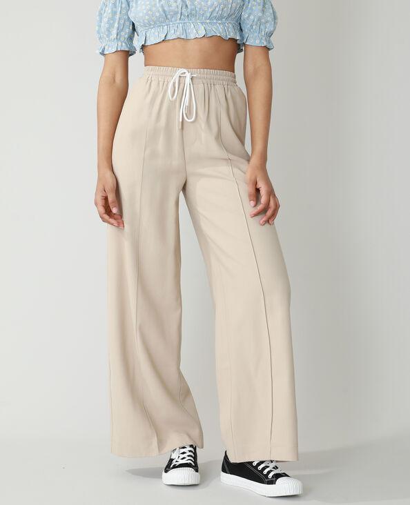 Pantalone wide leg écru - Pimkie