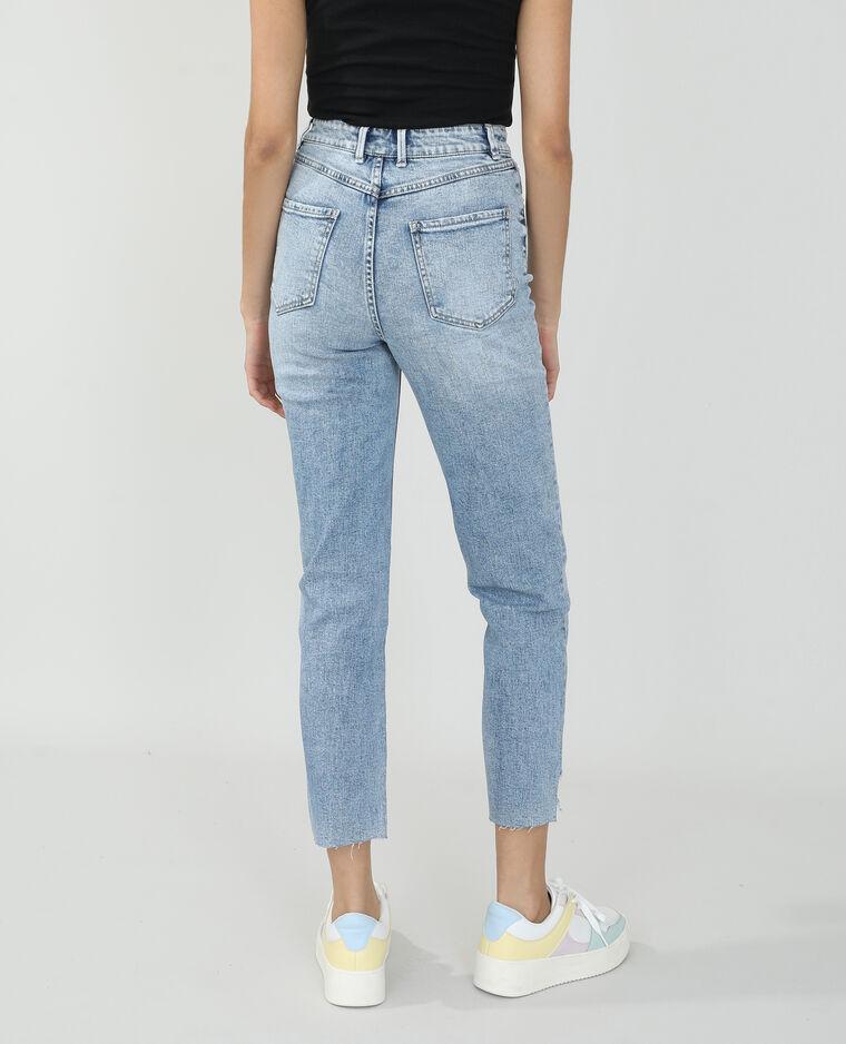 Jeans straight high waist blu denim - Pimkie
