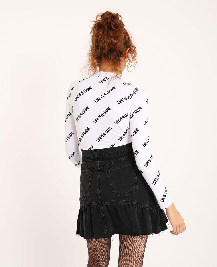 T-shirt a maniche lunghe bianco - Pimkie