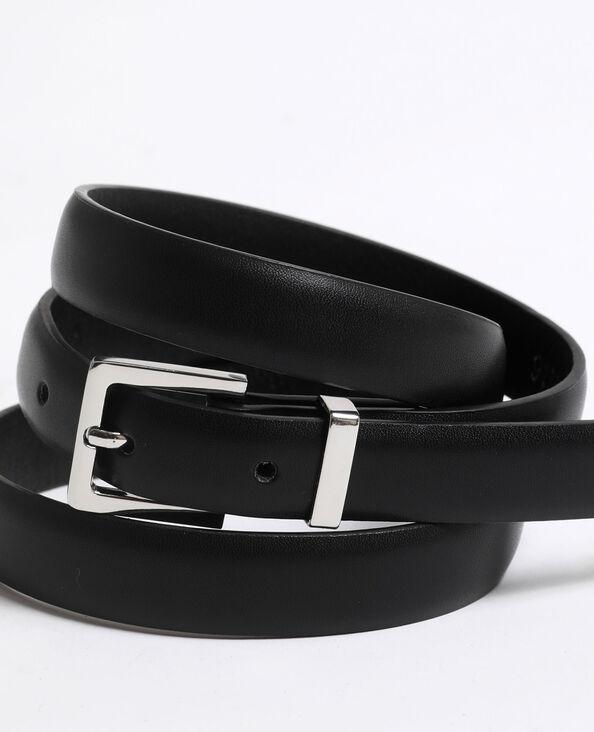 Cintura sottile in finta pelle nero
