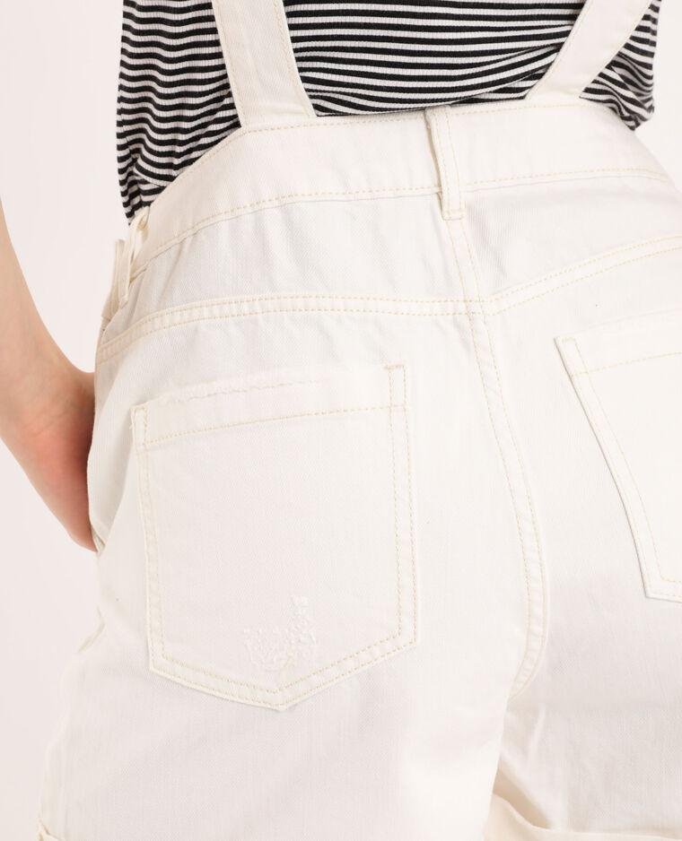 Salopette di jeans écru
