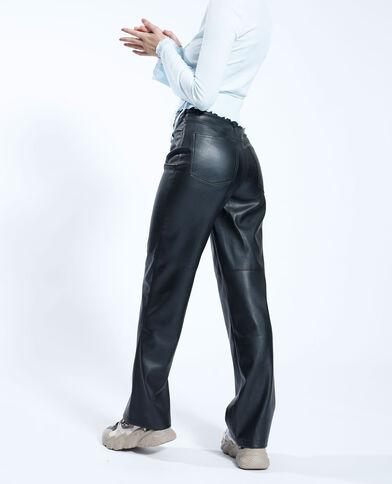 Pantalone dritto in similpelle nero - Pimkie