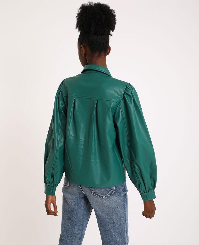 Camicia in similpelle verde