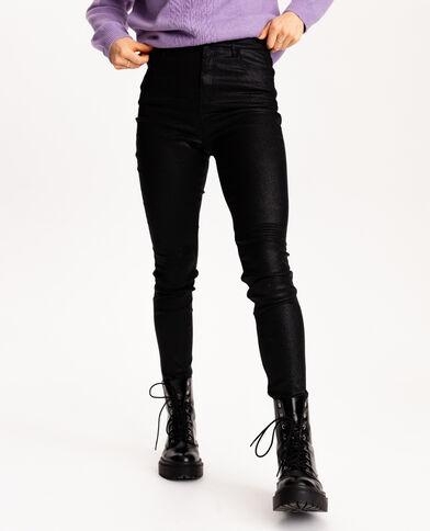 Pantalone a 5 tasche con paillettes nero