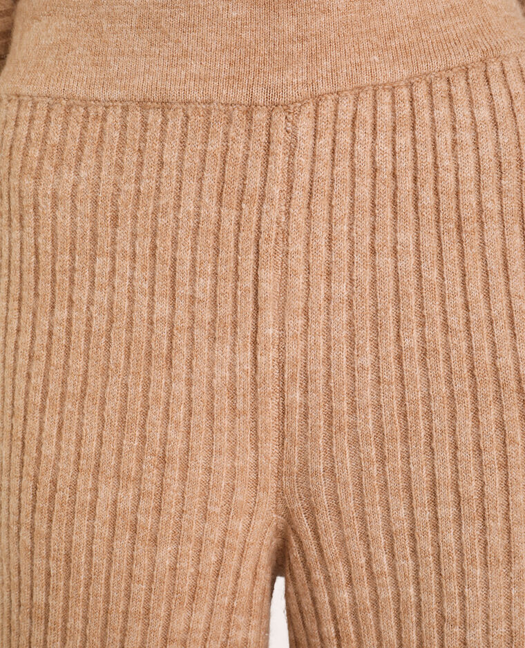 Pantalone in maglia beige