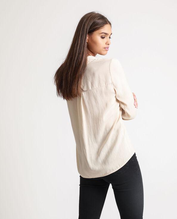 Camicia satinata beige