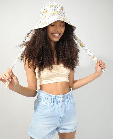 Cappello bob a fiori bianco - Pimkie