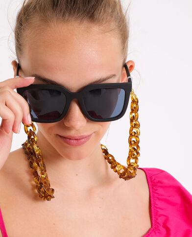 Catena per occhiali a scaglie marrone