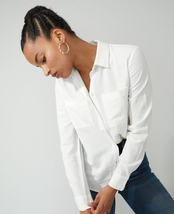 Camicia oversize asimmetrica bianco - Pimkie