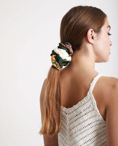 Lotto da 3 elastici per capelli verde