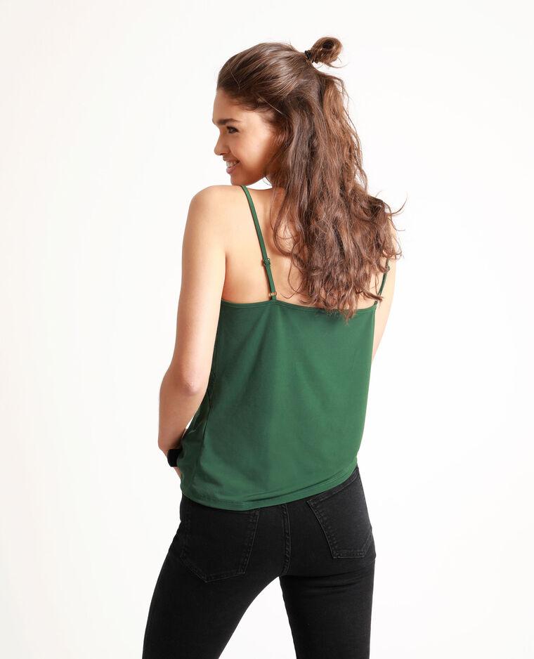 Top con spalline sottili verde