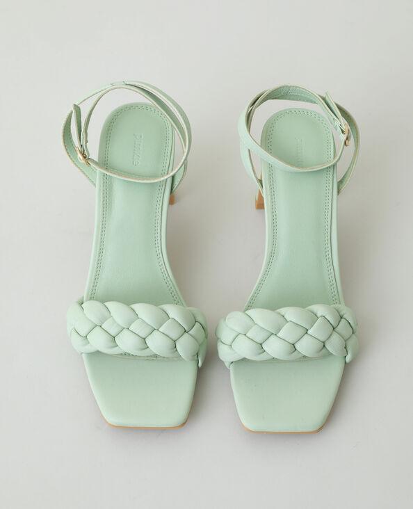 Sandali con tacco intrecciati verde - Pimkie