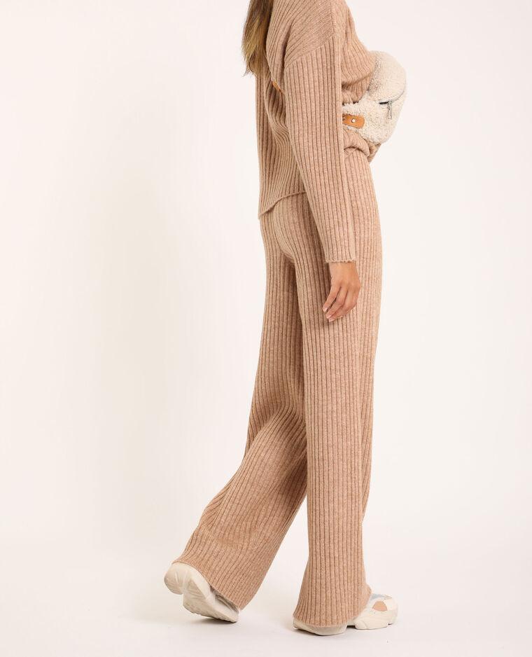 Pantalone in maglia beige - Pimkie