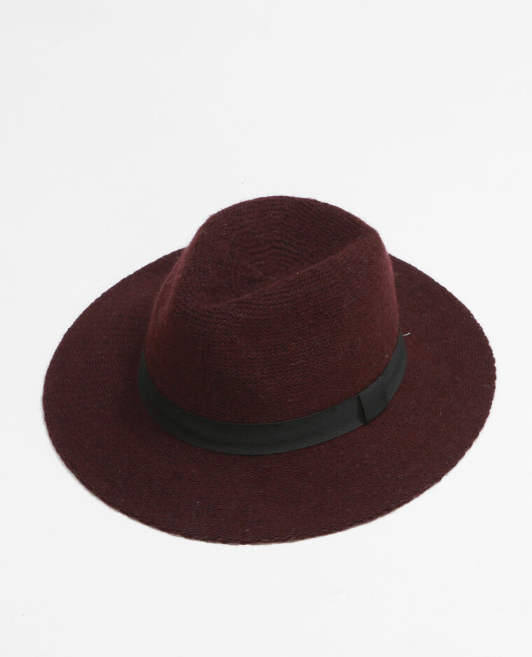 Cappello fedora tricoté granata - 947103326A03  eb79a48203c5