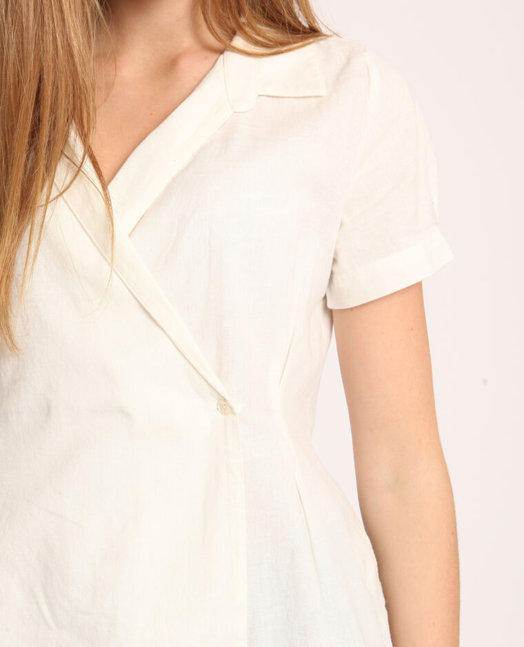 Camicia maniche corte bianco sporco