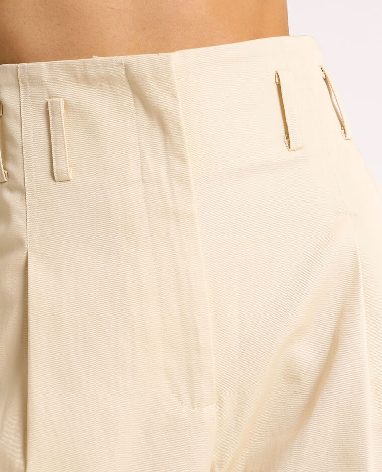 Pantalone city high waist beige corda