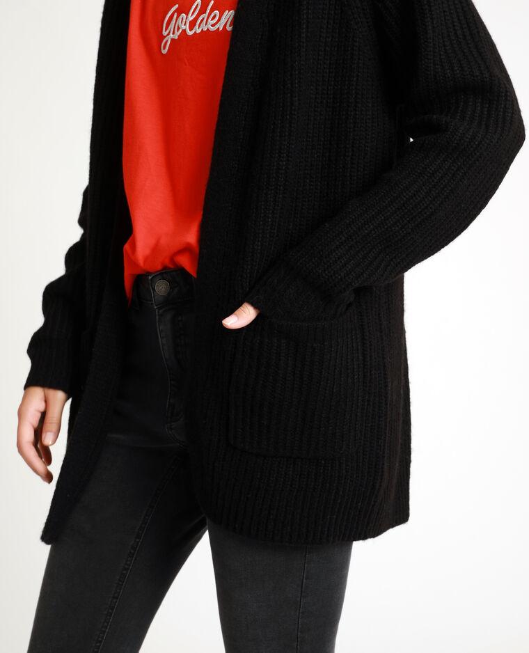 Cardigan di media lunghezza nero