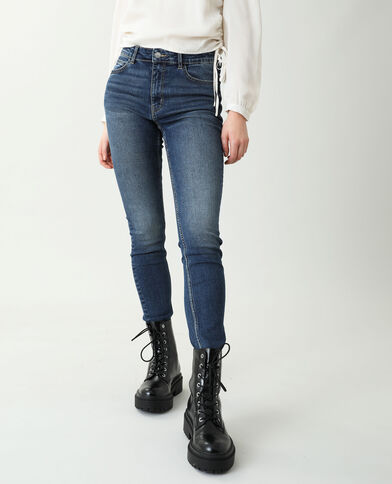 Jeans skinny push up mid waist blu grezzo - Pimkie
