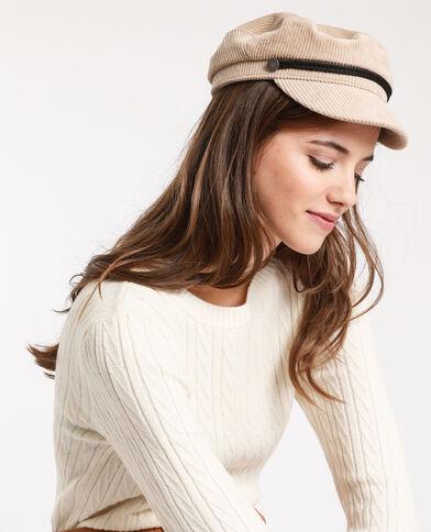 Cappellino da marinaio beige