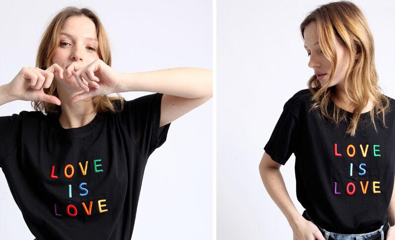 T-shirt LOVE nero