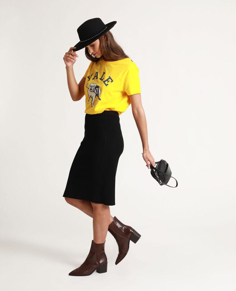 T-shirt Yale giallo