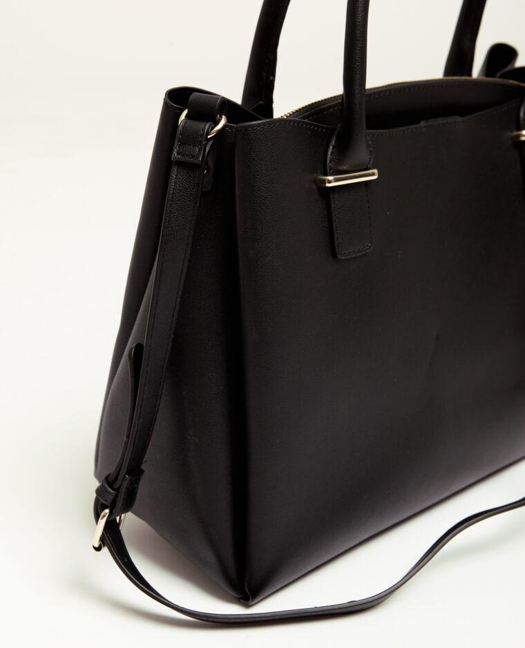 Grande borsa in finta pelle nero
