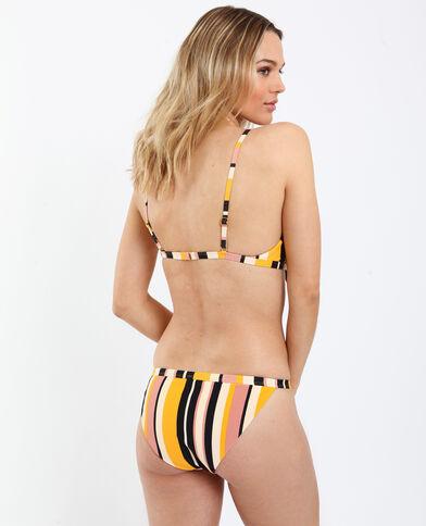 Pezzo sopra di bikini a righe giallo