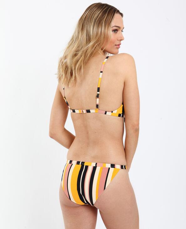 Pezzo sotto di bikini a righe giallo