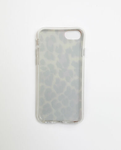 Custodia leopardata per iPhone 6/6S/7/8 bianco sporco