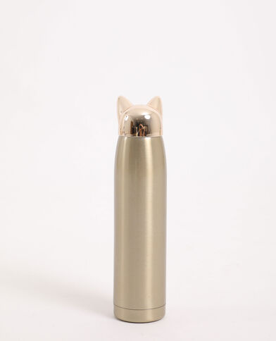 Borraccia gatto dorato