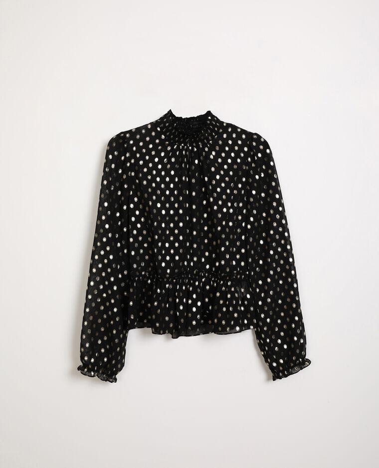 Blusa trasparente nero
