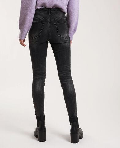 Jeans skinny high waist délavé nero