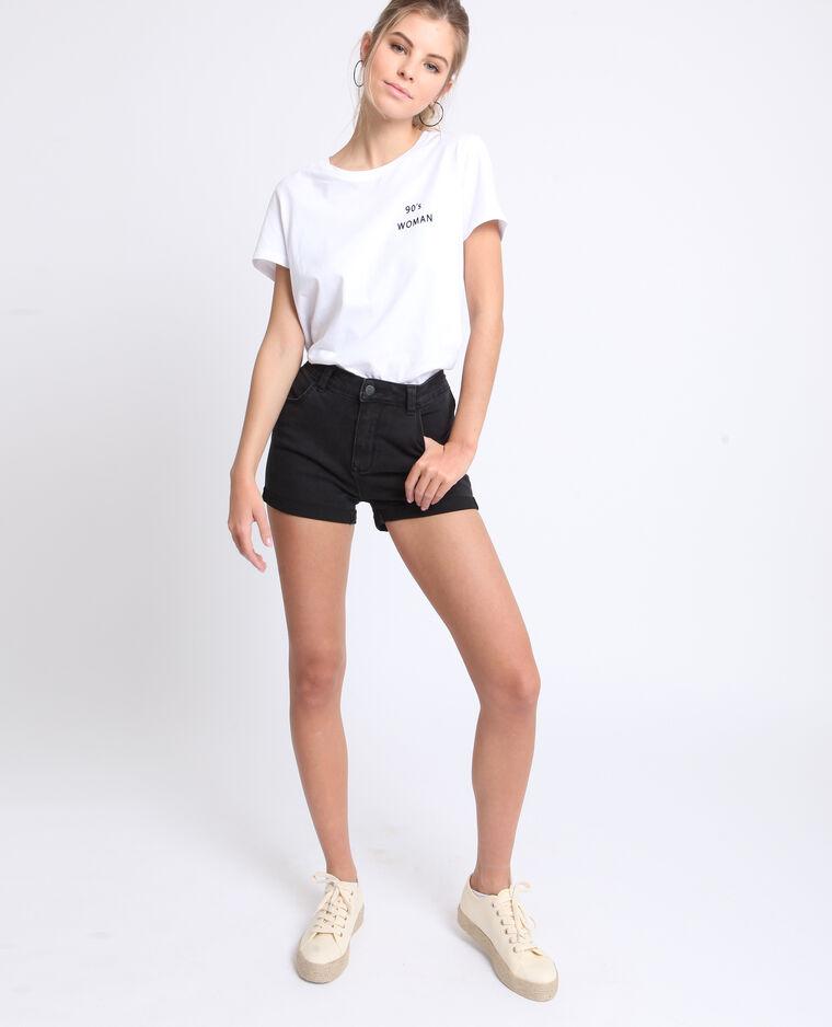 Short in jeans nero
