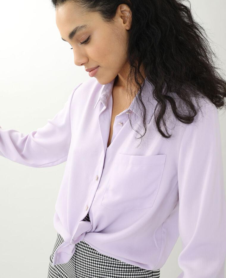 Camicia morbida viola