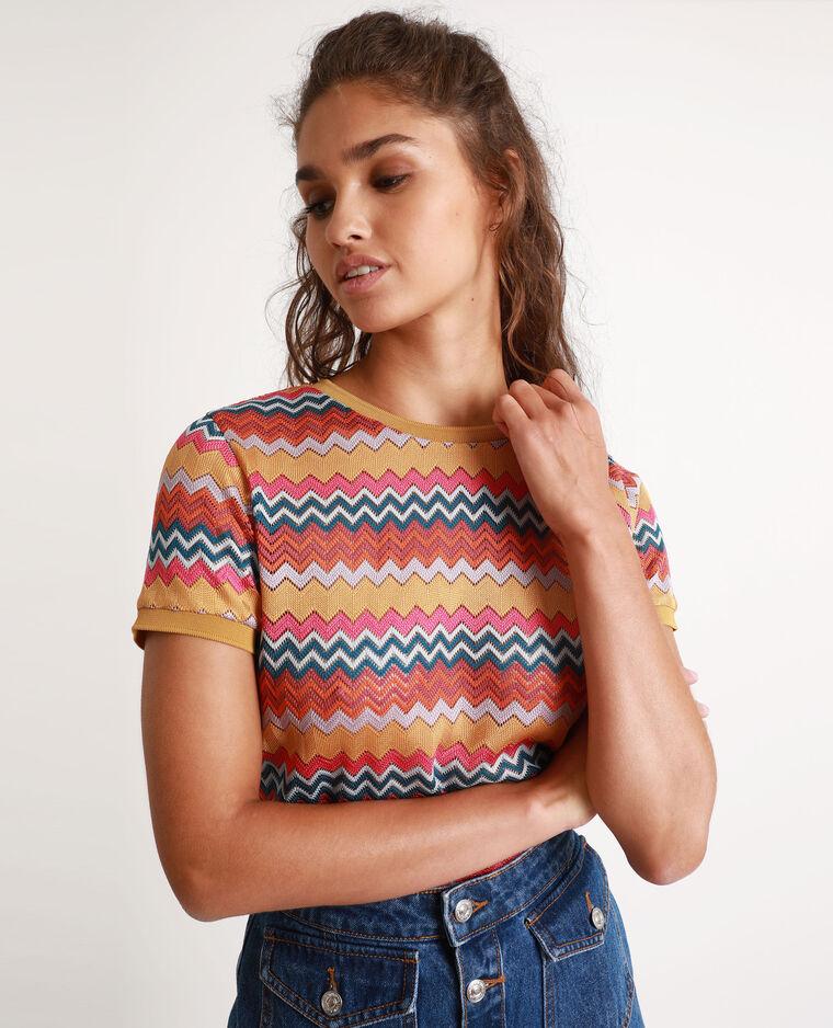 T-shirt multicolore giallo