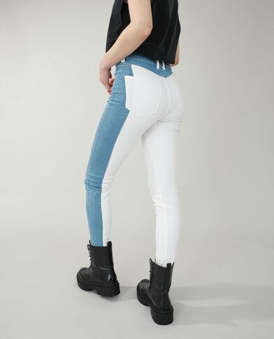 Jeans skinny high waist bicolore blu denim - Pimkie