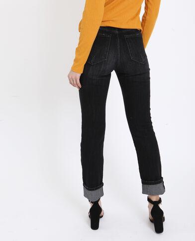 Slim mid waist nero