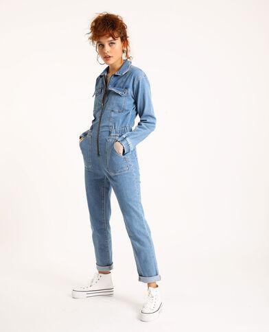 Abito pantalone in jeans blu cielo