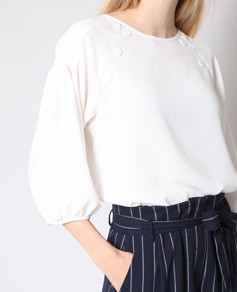 Blusa con maniche 3/4 bianco sporco