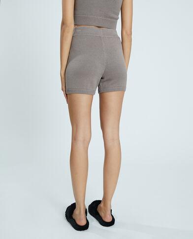 Short in maglia tricot marrone - Pimkie