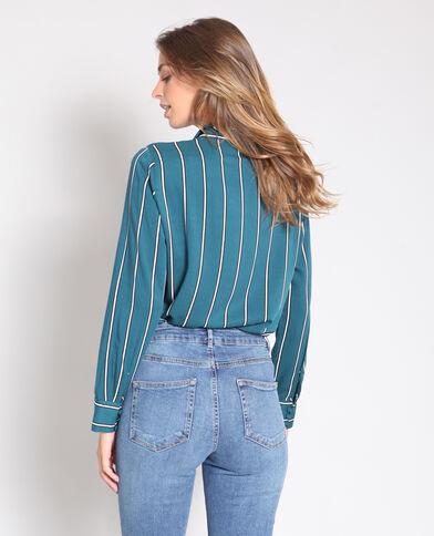 Camicia a righe verde
