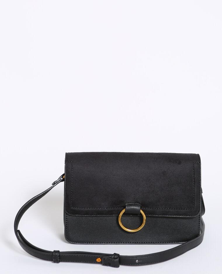 Piccola borsa bimateriale nero