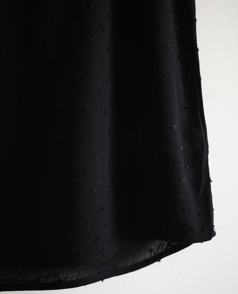 Top con spalline sottili nero