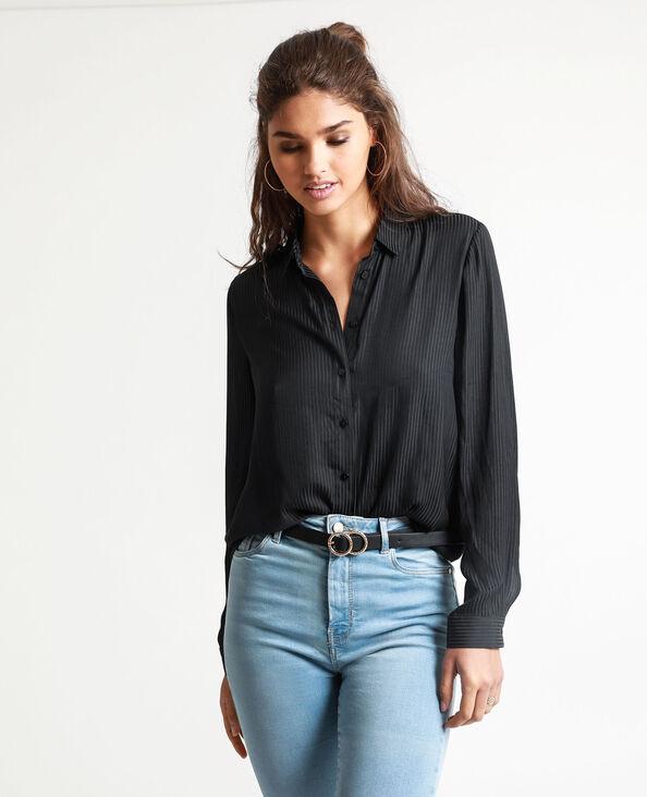 Camicia satinata nero